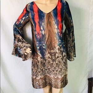 KLD Signature Printed Dress.Size M